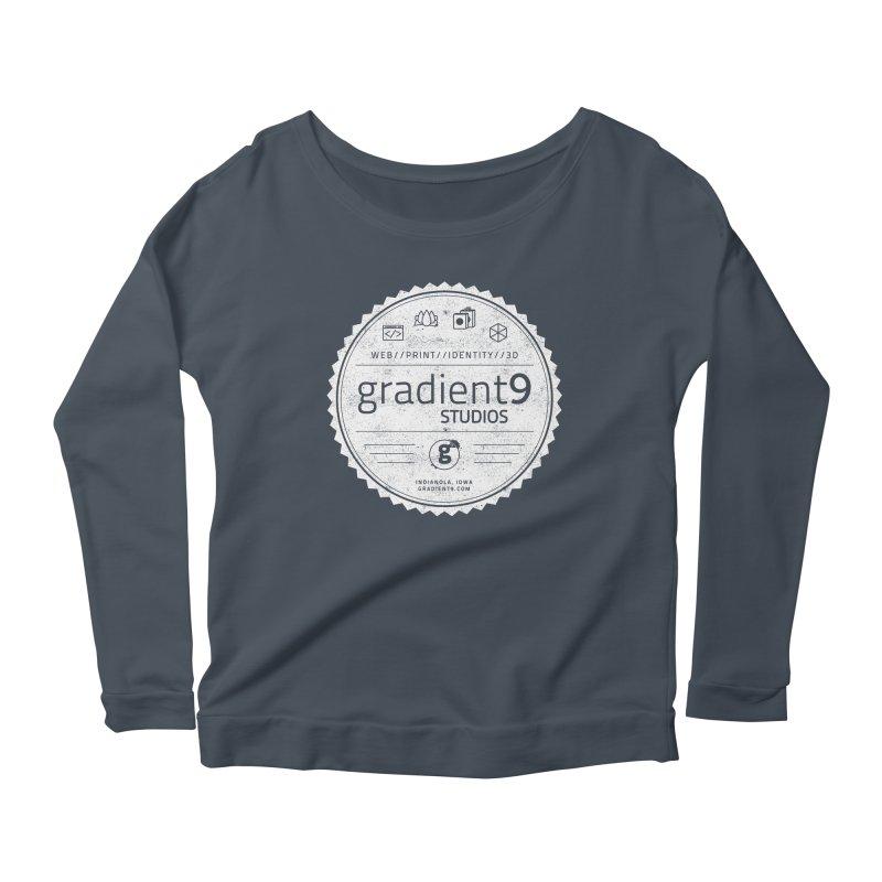 Gradient9 Badge Women's Scoop Neck Longsleeve T-Shirt by Gradient9 Studios Threadless Store