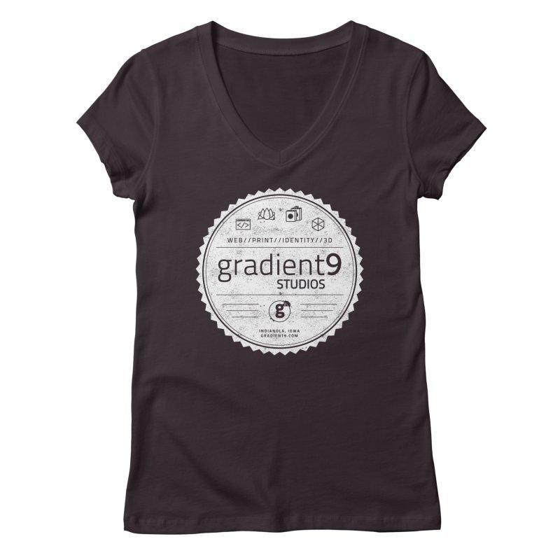 Gradient9 Badge Women's Regular V-Neck by Gradient9 Studios Threadless Store