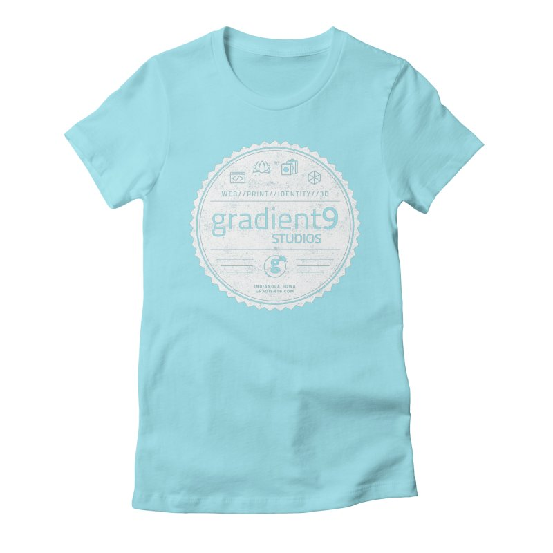 Gradient9 Badge Women's Fitted T-Shirt by Gradient9 Studios Threadless Store
