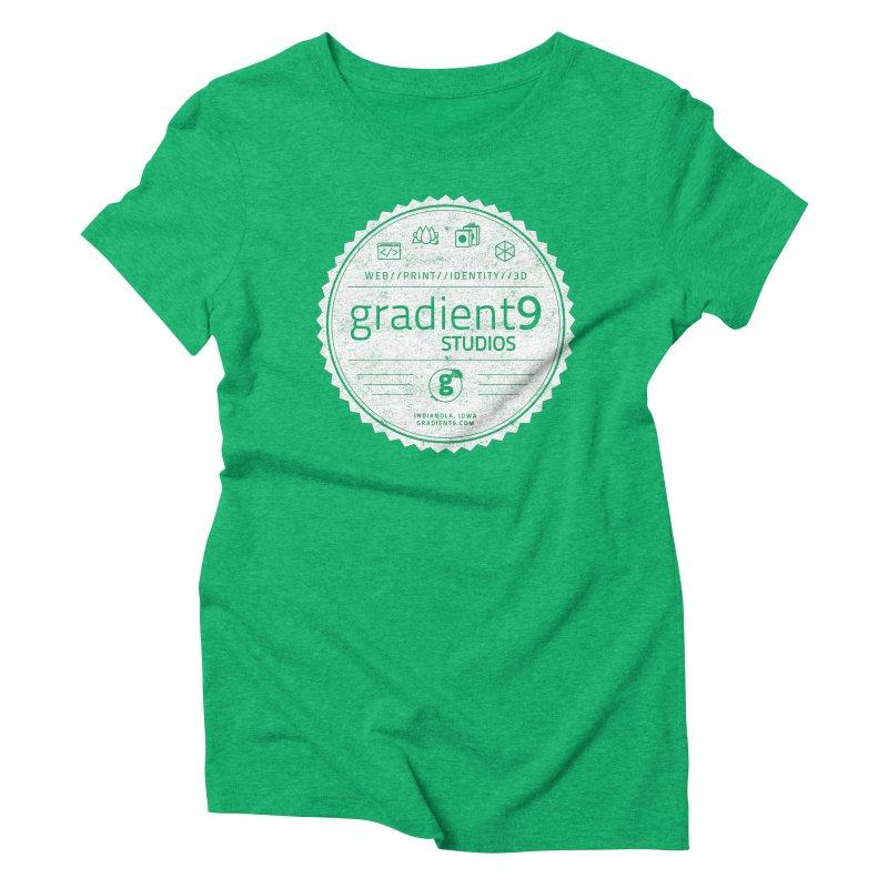 Gradient9 Badge Women's Triblend T-Shirt by Gradient9 Studios Threadless Store
