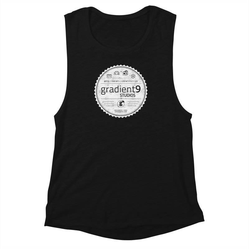 Gradient9 Badge Women's Muscle Tank by Gradient9 Studios Threadless Store