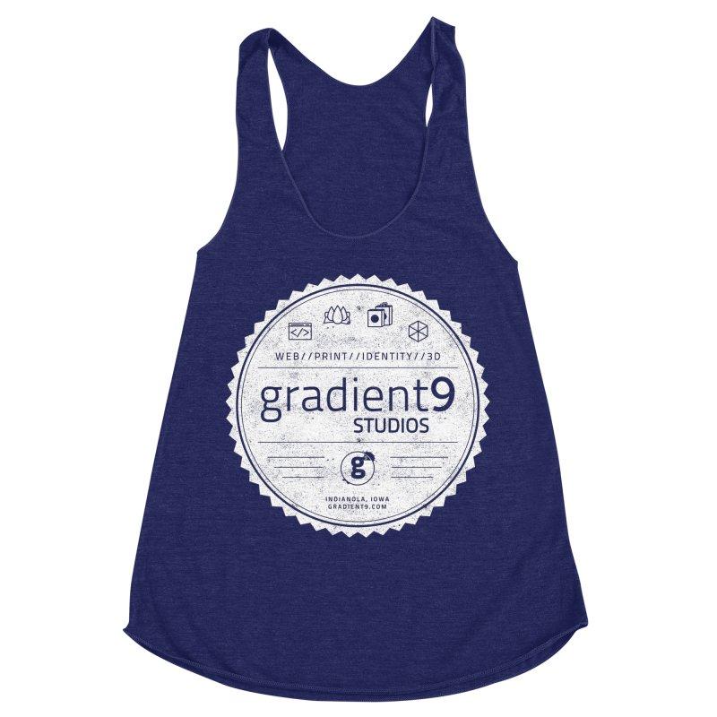 Gradient9 Badge Women's Racerback Triblend Tank by Gradient9 Studios Threadless Store