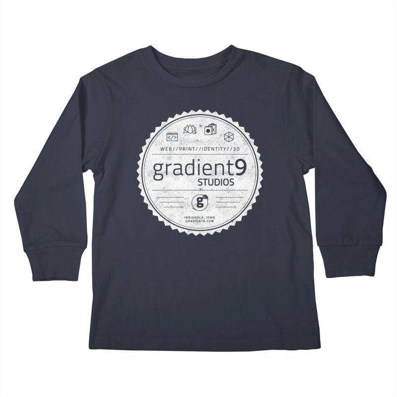 Gradient9 Badge Kids Longsleeve T-Shirt by Gradient9 Studios Threadless Store