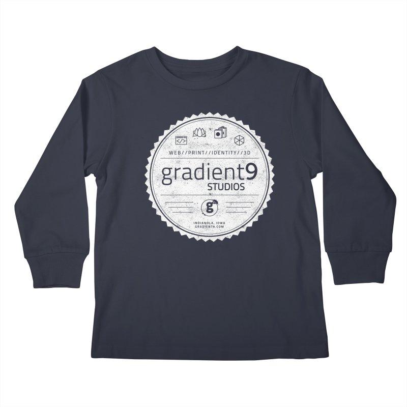 Gradient9 Badge Kids Longsleeve T-Shirt by Gradient9 Studios Threadless Store
