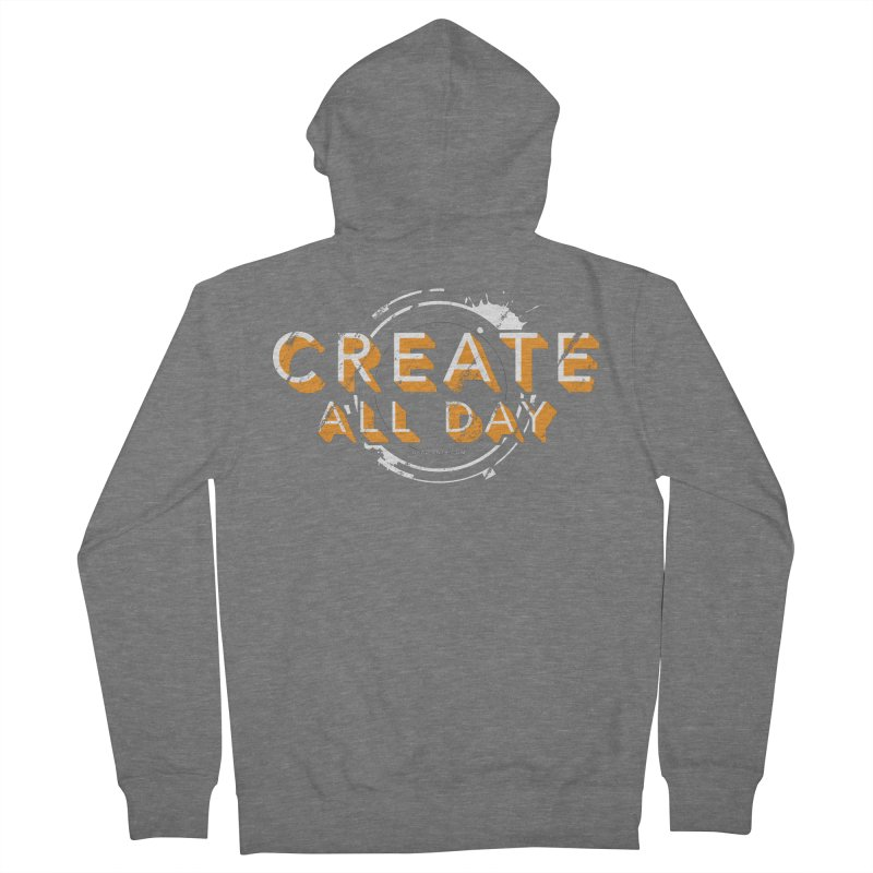 Create All Day Women's French Terry Zip-Up Hoody by Gradient9 Studios Threadless Store