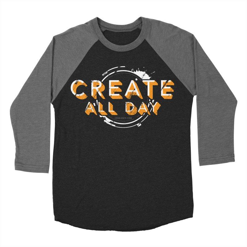 Create All Day Women's Baseball Triblend Longsleeve T-Shirt by Gradient9 Studios Threadless Store