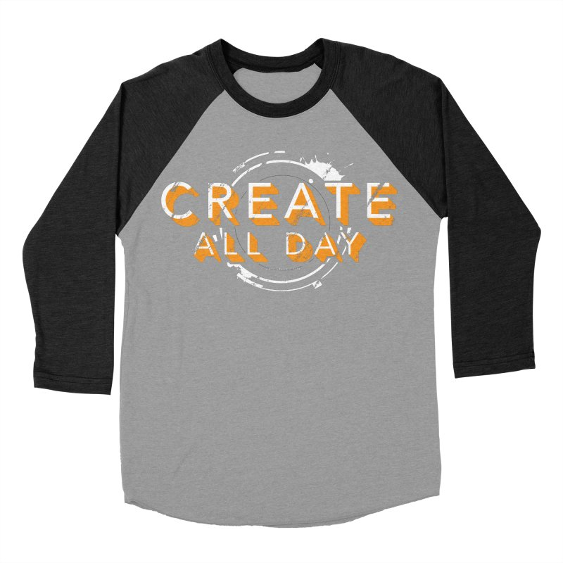 Create All Day Women's Baseball Triblend Longsleeve T-Shirt by Gradient9 Studios Threadless Store
