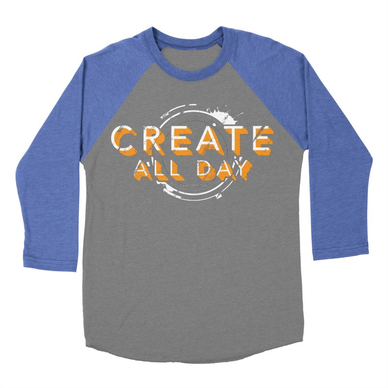 Create All Day Men's Baseball Triblend Longsleeve T-Shirt by Gradient9 Studios Threadless Store