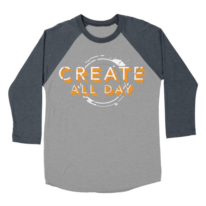 Create All Day Men's Baseball Triblend Longsleeve T-Shirt by Gradient9 Studios Threadless Store