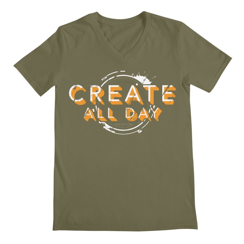 Create All Day Men's Regular V-Neck by Gradient9 Studios Threadless Store