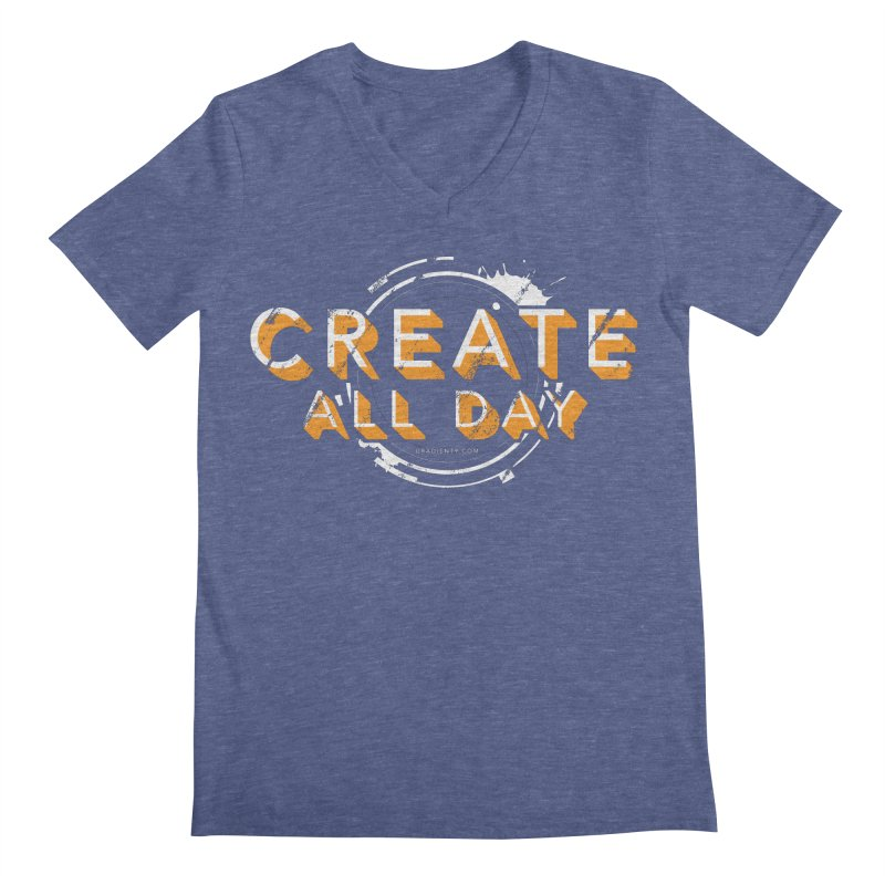Create All Day Men's V-Neck by Gradient9 Studios Threadless Store