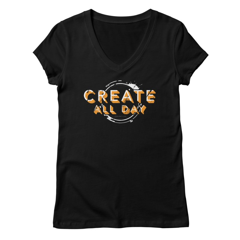 Create All Day Women's V-Neck by Gradient9 Studios Threadless Store
