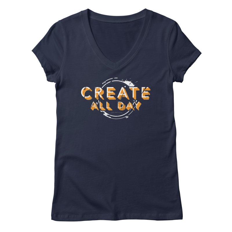 Create All Day Women's Regular V-Neck by Gradient9 Studios Threadless Store