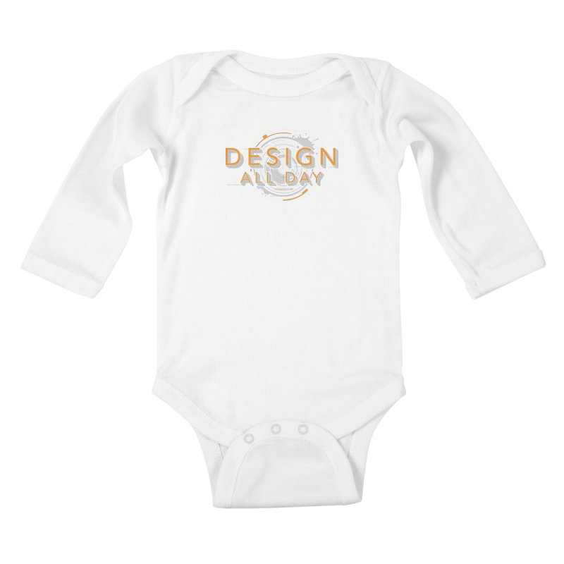 Design All Day Kids Baby Longsleeve Bodysuit by Gradient9 Studios Threadless Store