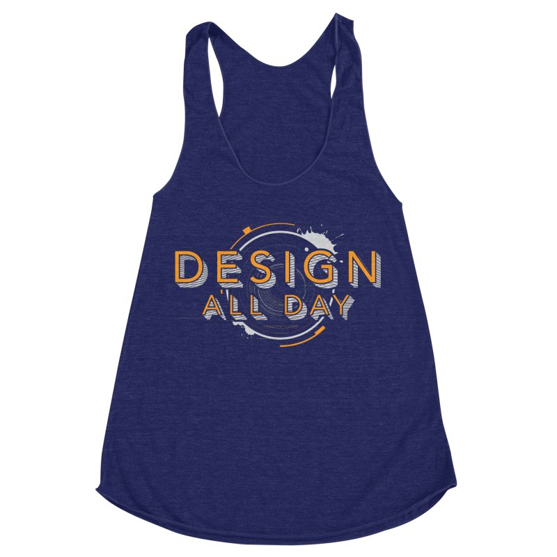 Design All Day Women's Racerback Triblend Tank by Gradient9 Studios Threadless Store