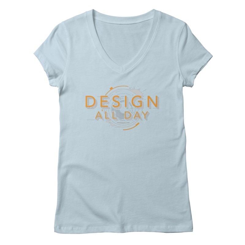 Design All Day Women's Regular V-Neck by Gradient9 Studios Threadless Store