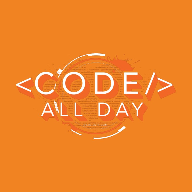 Code All Day Men's T-Shirt by Gradient9 Studios Threadless Store