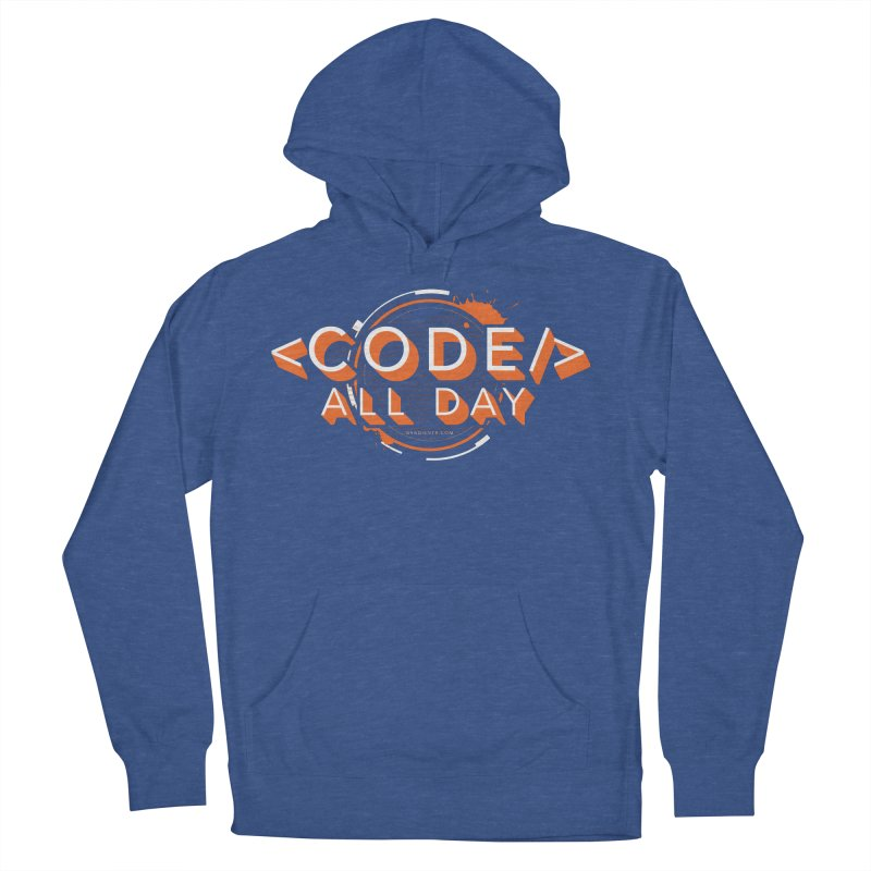 Code All Day Women's French Terry Pullover Hoody by Gradient9 Studios Threadless Store
