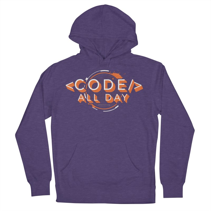 Code All Day Men's French Terry Pullover Hoody by Gradient9 Studios Threadless Store
