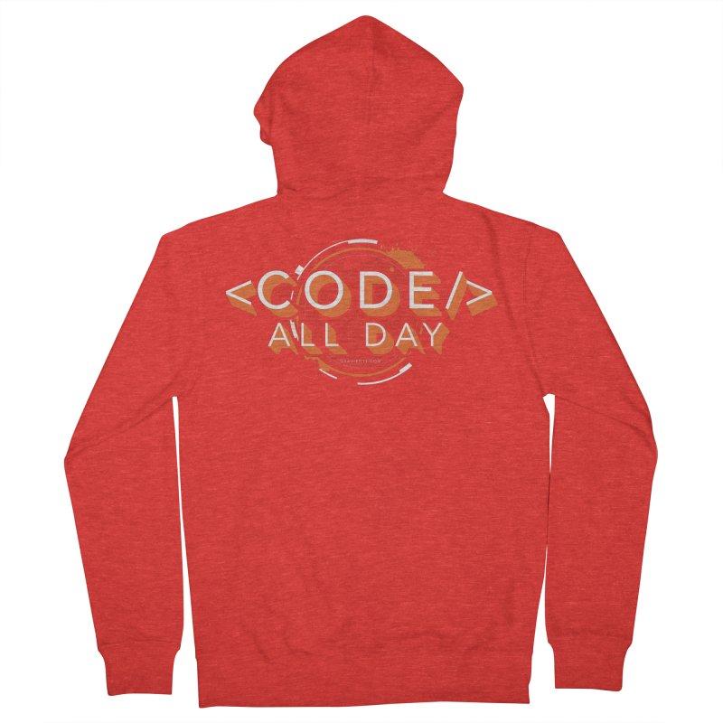 Code All Day Men's Zip-Up Hoody by Gradient9 Studios Threadless Store