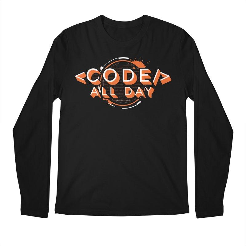 Code All Day Men's Regular Longsleeve T-Shirt by Gradient9 Studios Threadless Store