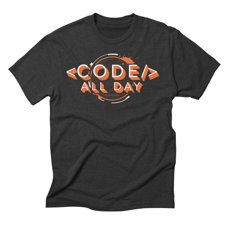 Code All Day Men's Triblend T-Shirt by Gradient9 Studios Threadless Store