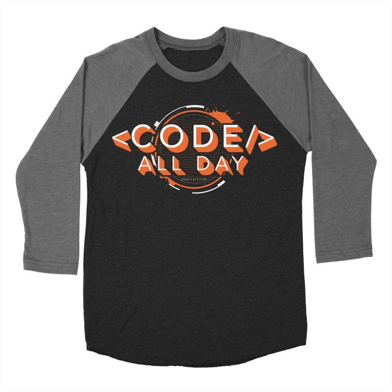 Code All Day Men's Baseball Triblend Longsleeve T-Shirt by Gradient9 Studios Threadless Store