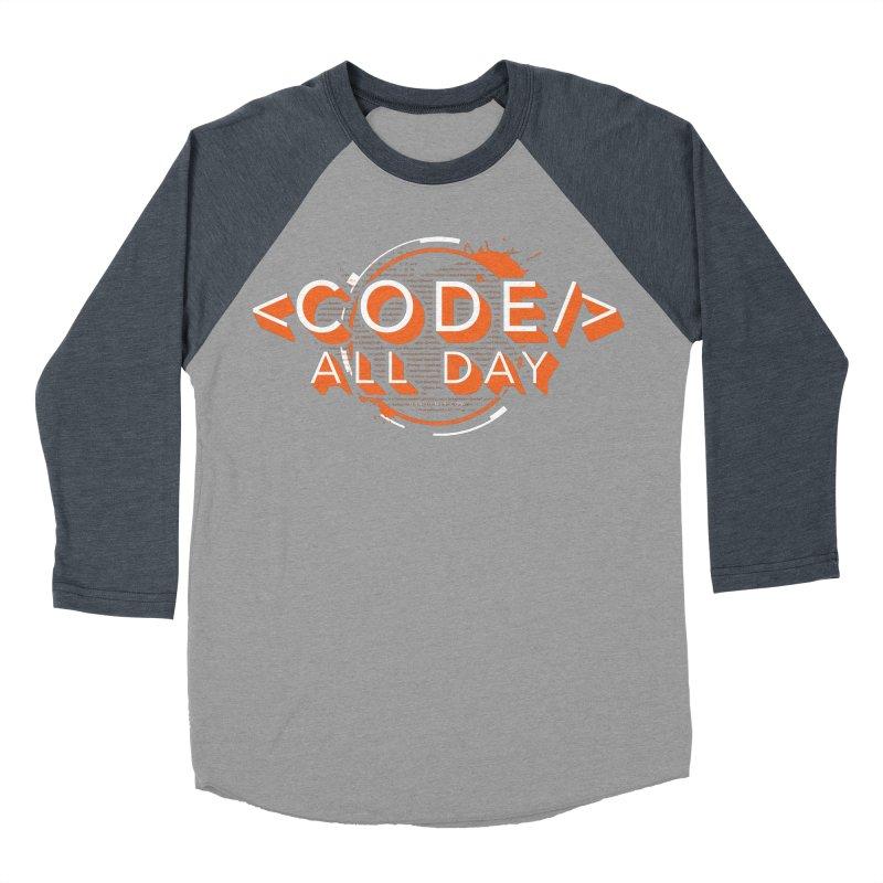 Code All Day Men's Baseball Triblend Longsleeve T-Shirt by Gradient9 Studios Threadless Store
