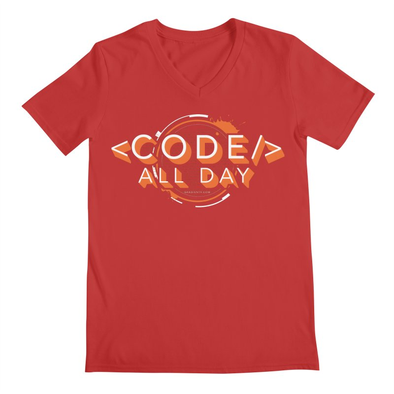 Code All Day Men's V-Neck by Gradient9 Studios Threadless Store