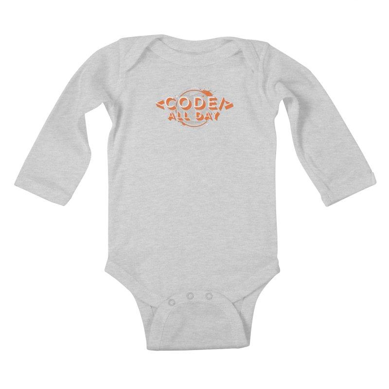 Code All Day Kids Baby Longsleeve Bodysuit by Gradient9 Studios Threadless Store