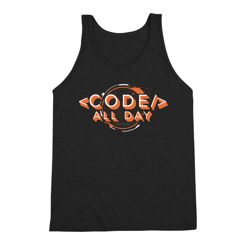 Code All Day Men's Tank by Gradient9 Studios Threadless Store