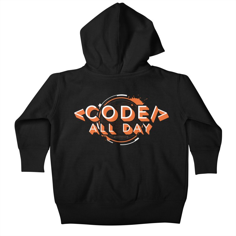 Code All Day Kids Baby Zip-Up Hoody by Gradient9 Studios Threadless Store