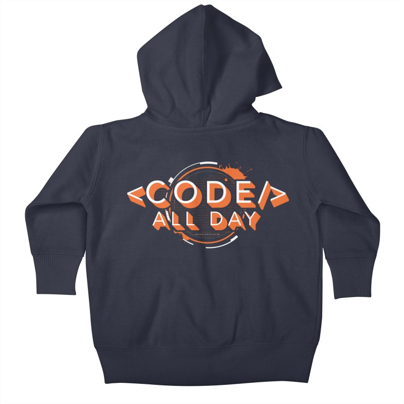 Code All Day Kids Baby Zip-Up Hoody by Gradient9 Studios Threadless Store