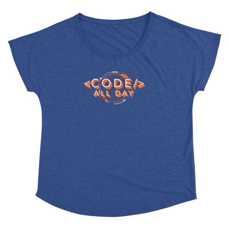 Code All Day Women's Dolman Scoop Neck by Gradient9 Studios Threadless Store