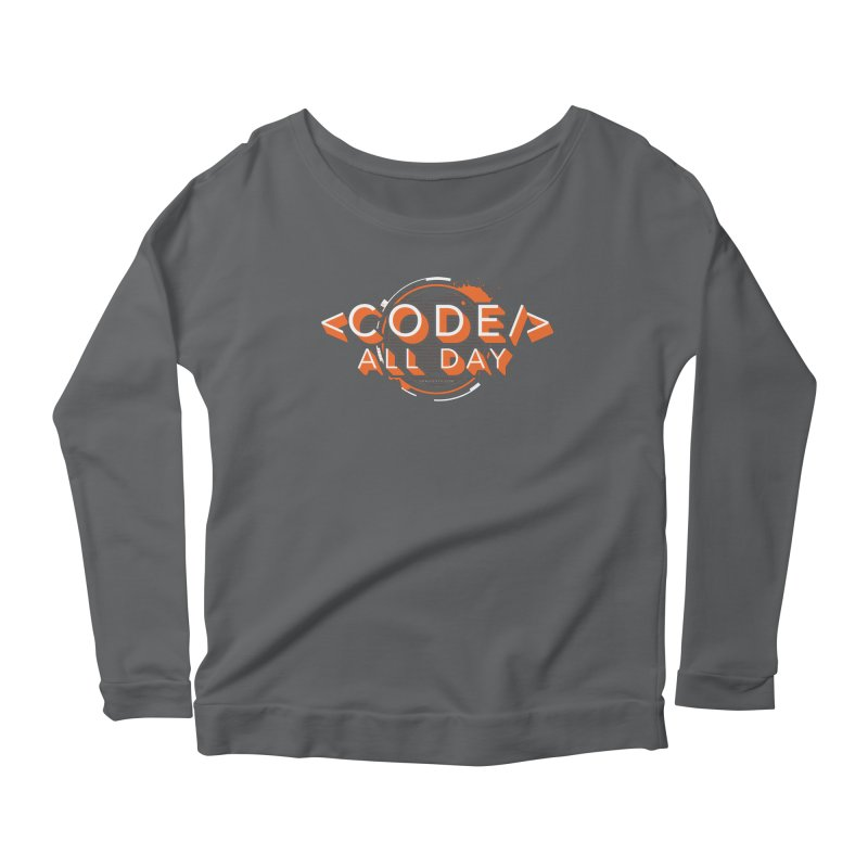 Code All Day Women's Scoop Neck Longsleeve T-Shirt by Gradient9 Studios Threadless Store