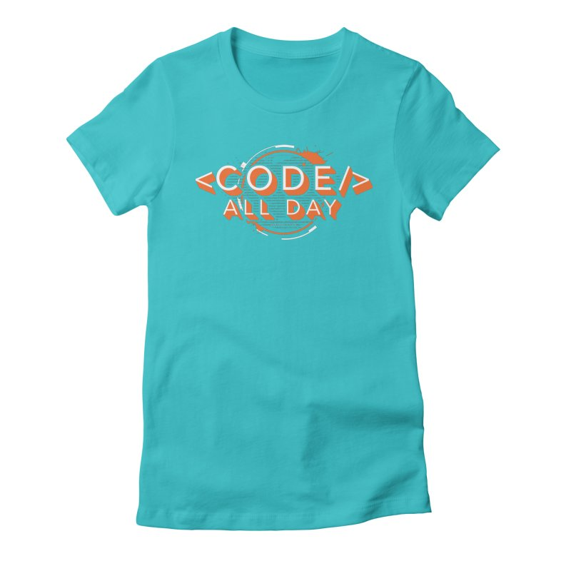 Code All Day Women's Fitted T-Shirt by Gradient9 Studios Threadless Store