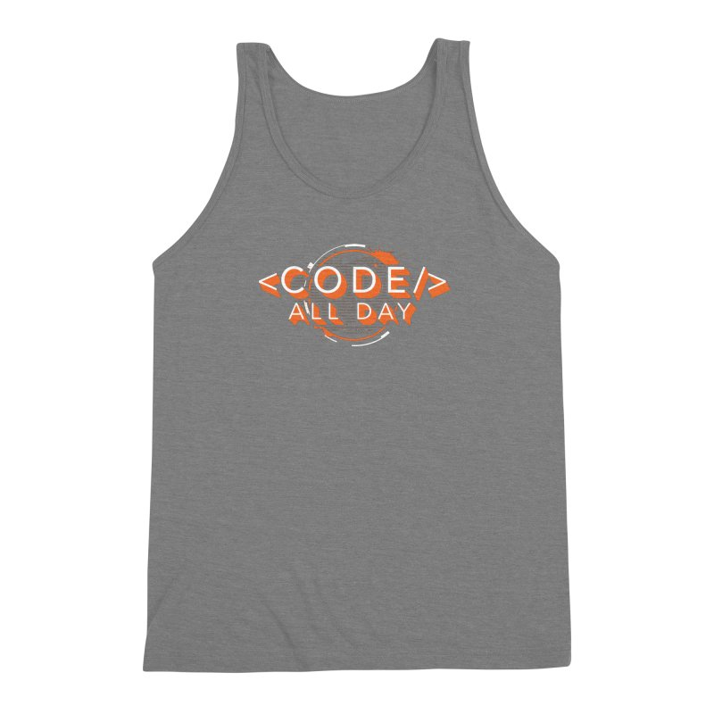 Code All Day Men's Triblend Tank by Gradient9 Studios Threadless Store
