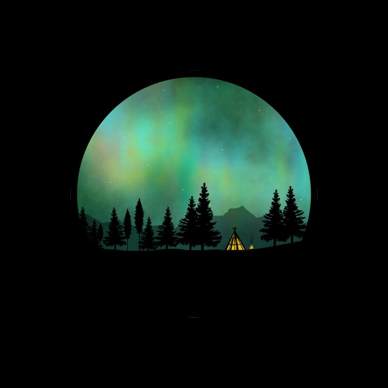 Aurora Borealis  Women's Fitted T-Shirt by Graeme Voigt