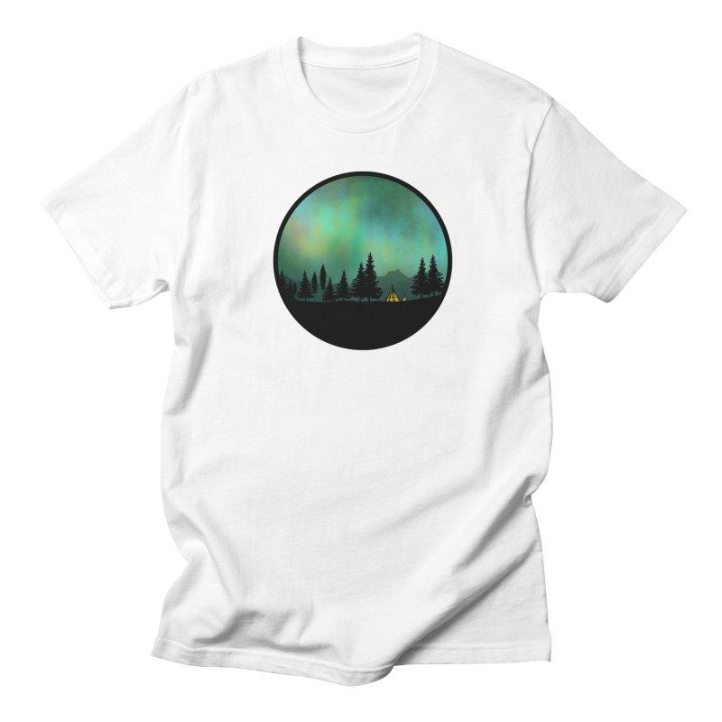 Aurora Borealis  Men's Regular T-Shirt by Graeme Voigt