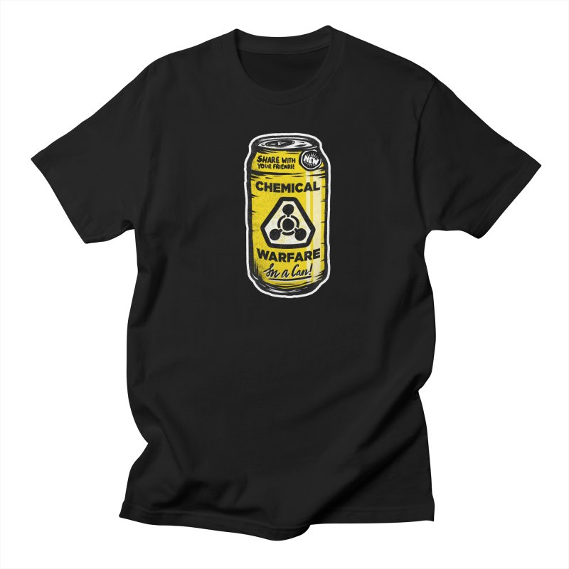 Chemical Warfare  in Men's T-Shirt Black by Graeme Voigt