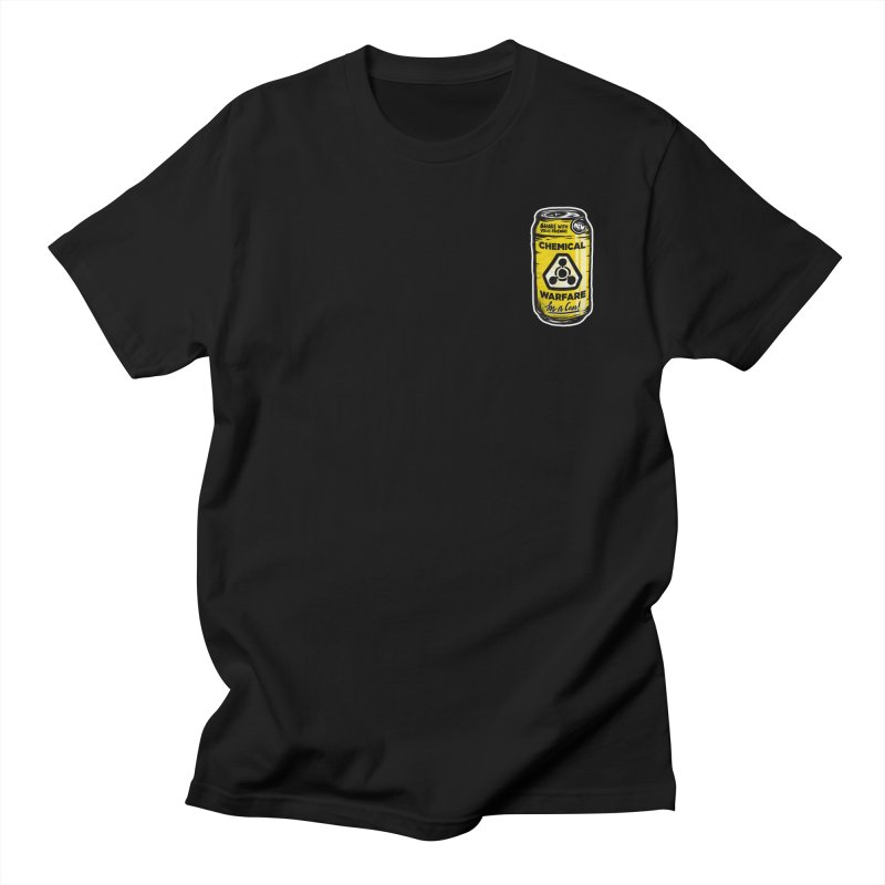 Chemical Warfare (Pocket)  in Men's Regular T-Shirt Black by Graeme Voigt
