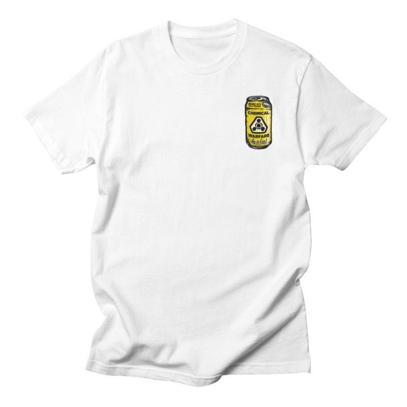 Chemical Warfare (Pocket)  Men's Regular T-Shirt by Graeme Voigt