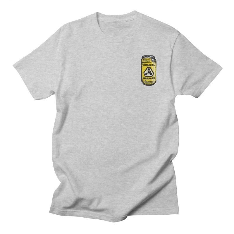 Chemical Warfare (Pocket)  Men's Regular T-Shirt by Graeme Voigt