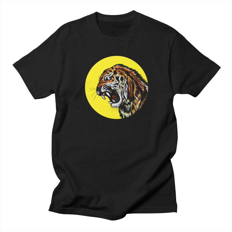 Ghost Tiger in Men's T-Shirt Black by Graeme Voigt