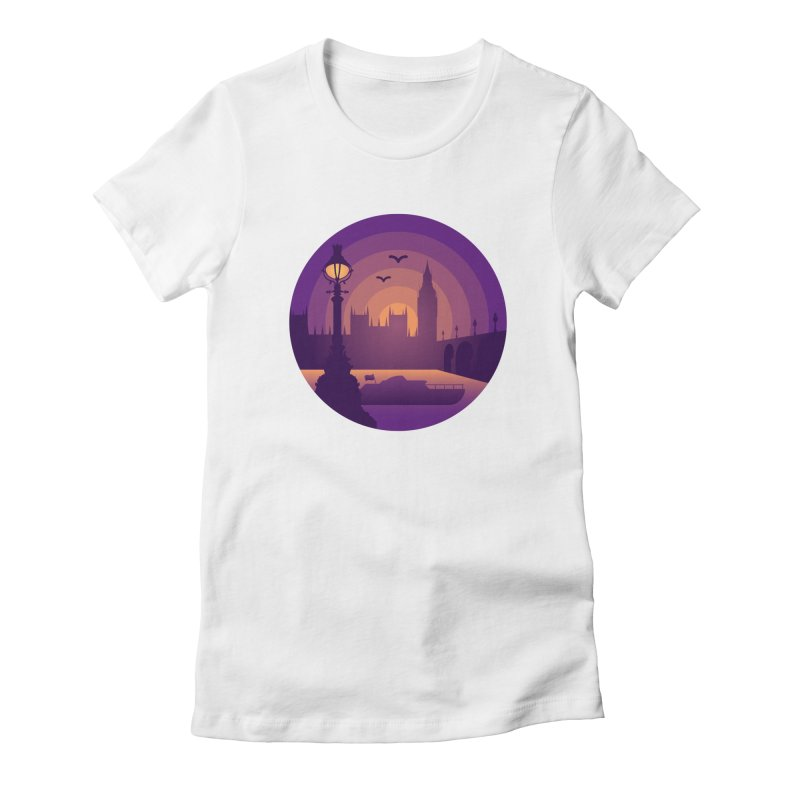London Women's Fitted T-Shirt by Graeme Voigt