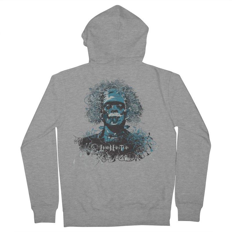 Frank Einstein Men's Zip-Up Hoody by grafismo's Artist Shop