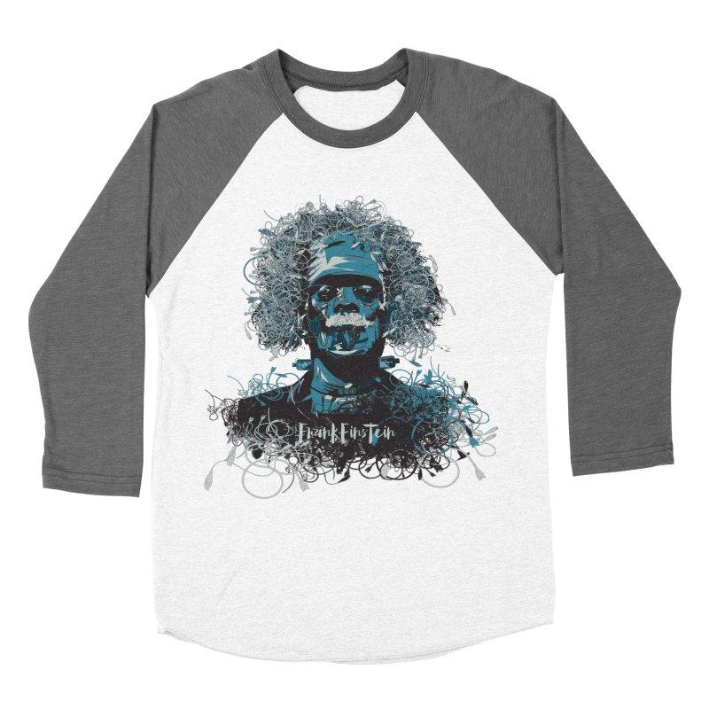 Frank Einstein Men's Baseball Triblend T-Shirt by grafismo's Artist Shop