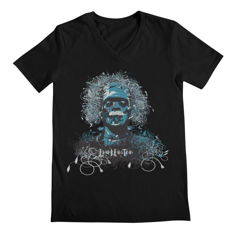 Frank Einstein Men's V-Neck by grafismo's Artist Shop
