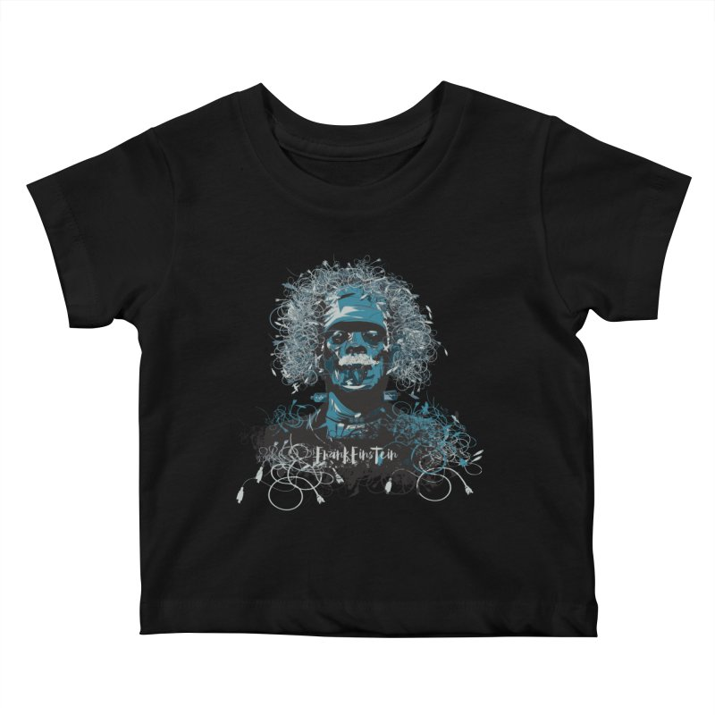 Frank Einstein Kids Baby T-Shirt by grafismo's Artist Shop