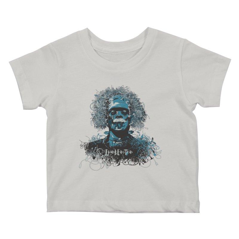 Frank Einstein Kids Baby T-Shirt by grafismo's Artist Shop